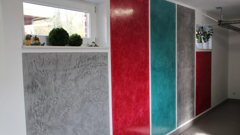 Spachteltechnik Wohnzimmer Wand