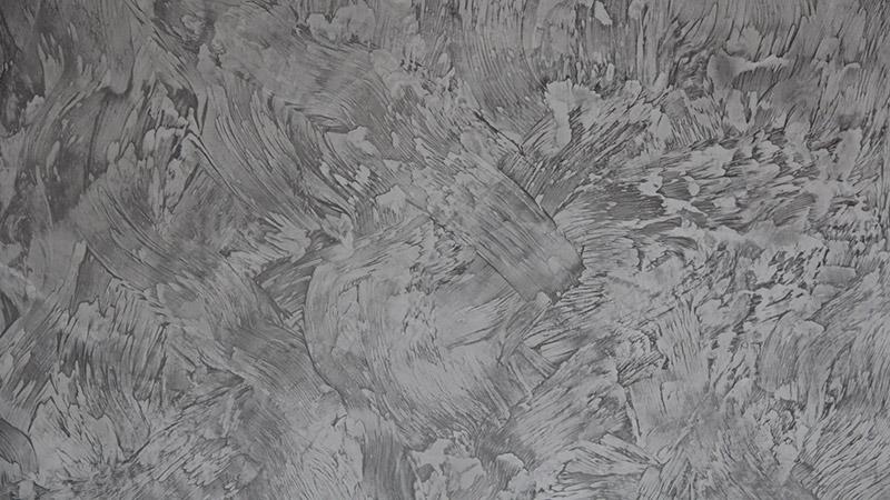 Spachteltechnik Wand grau